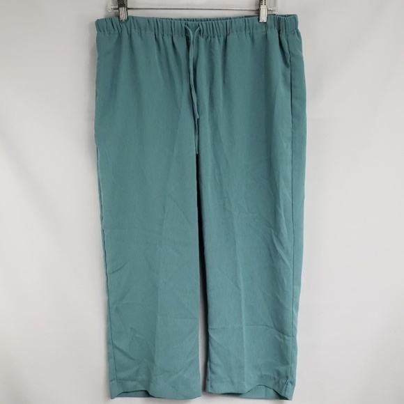 Avenue Pants - Avenue Turquoise Pull On Drawstring Capri Pants
